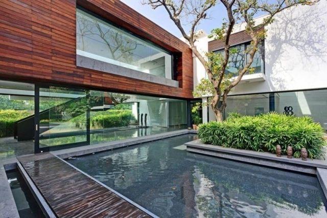 terassengestaltung moderne terrassengestaltung mit wasser nowaday garden ideen