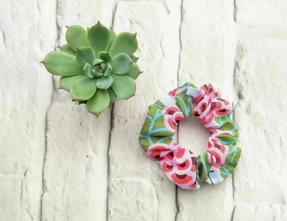 Hair Scrunchie, scrunchies, accessories, hairbands, hair elastics, hair ties, floral scrunchie #hairscrunchie