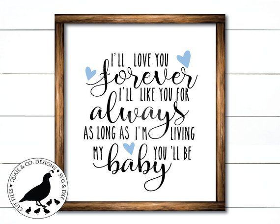 Download I'll Love You Forever svg, Love You Forever stencil ...