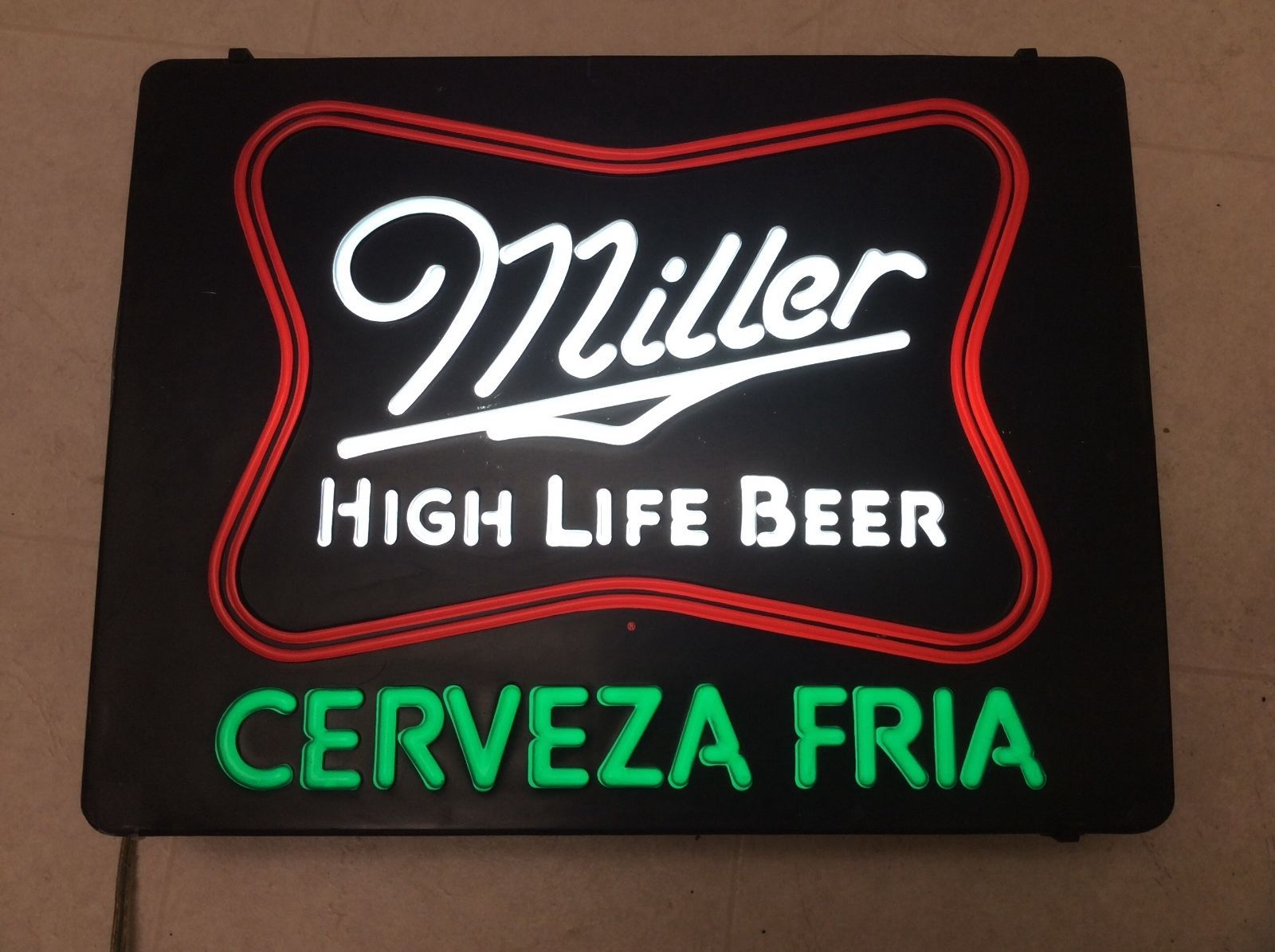 Vintage miller high life beer neon look light up sign bar gameroom vintage miller high life beer neon look light up sign bar gameroom cerveza fria aloadofball Images