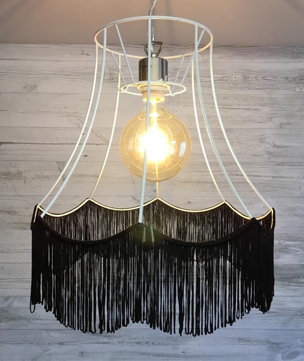 Http Www Imperiallighting Co Uk Modern Lamp Shades Zorita White Frame With Black Fringe Html Modern Lamp Shades Traditional Lamp Shades White Frame