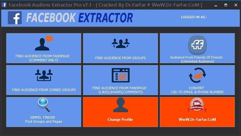 Facebook Audiens Extractor Pro V7 1 2019 Social Media Marketing Tool Discount 100 Off Social Media Marketing Tools Internet Marketing Marketing Software