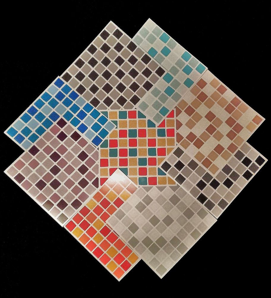 Self adhesive mosaic tile transfers stickers bathroom kitchen ...