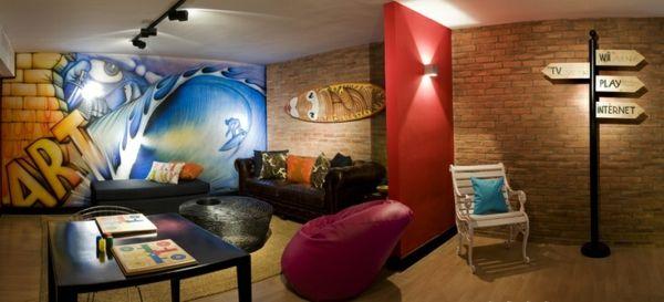 coole wohnideen für jugendzimmer und aufenthaltsraum für teenager, Wohnideen design