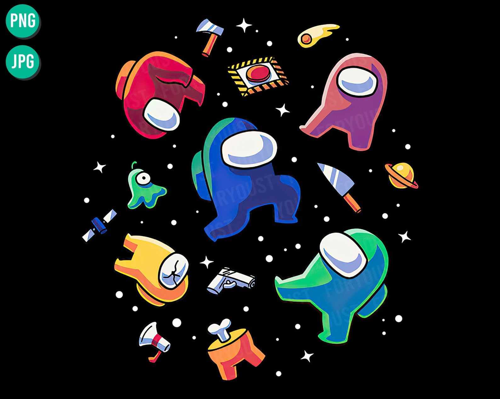 Impostors In Space Png Download Among Us Video Game Galaxy Finding Impostor Among Us Inspired Funny Gift For Gamer Digital Download In 2021 Gaming Wall Art Drawing Clipart Doodle Wall