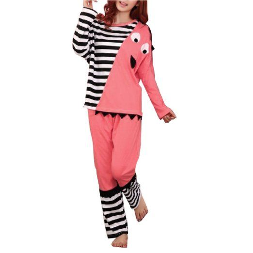 Amazon.com: Batwing Sleeve Pullover Cartoon Rooster Design Pajama Sets for Women: Clothing