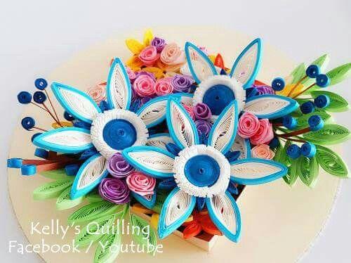 Decoration design in paper valoblogi paper quilling flower decoration learning video art also flowers tutorial design rh pinterest mightylinksfo