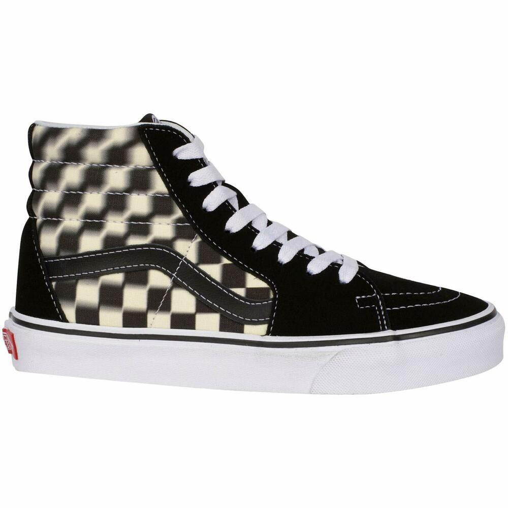 Vans Unisex Sk8 Hi Blur Check Fashion Sneakers Ebay Sneakers Vans Vans Sk8
