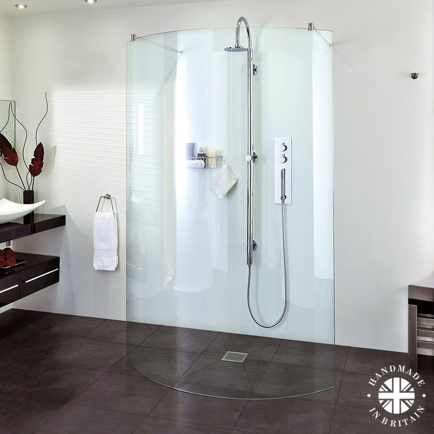 Image result for walk through frameless showers | bathroom ...