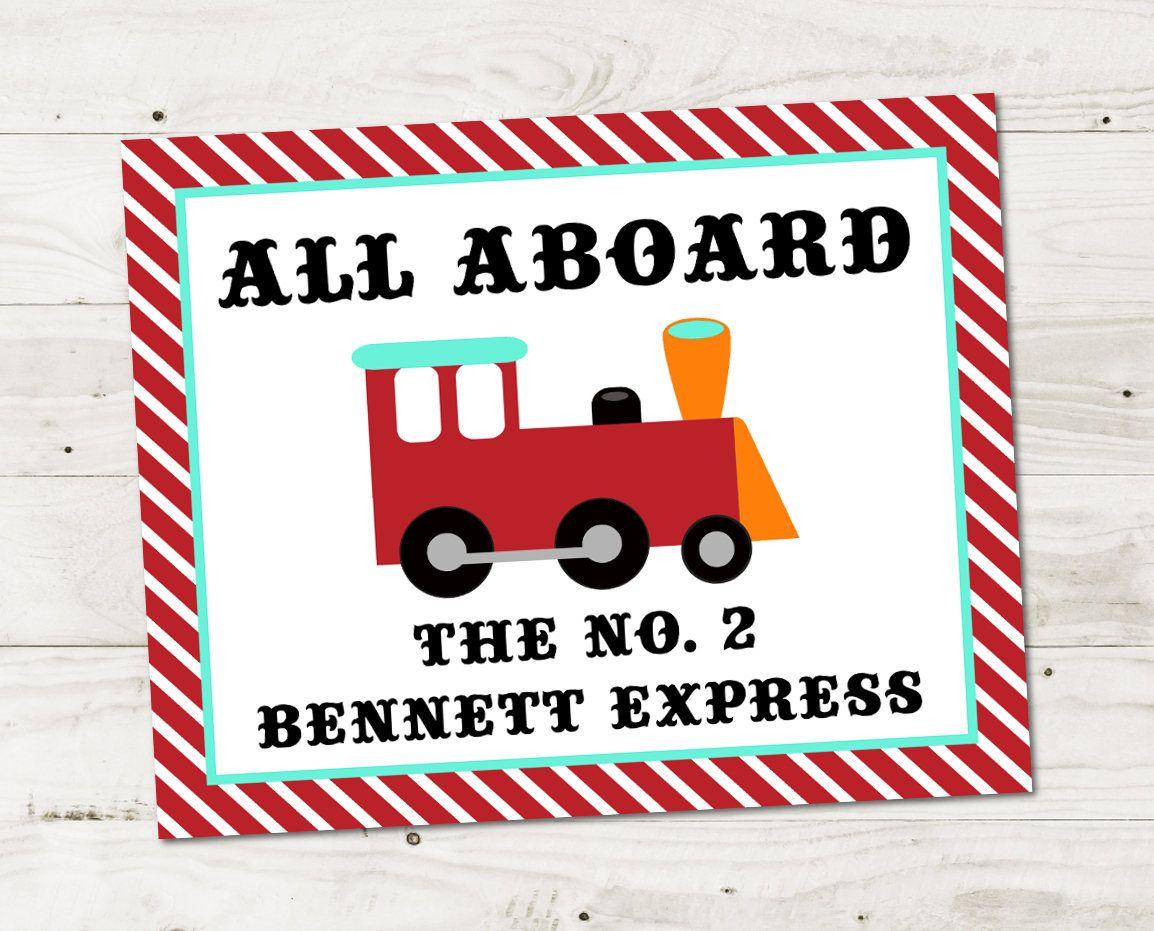 Train Birthday Party Ideas for Little Boys: 8x10 Printable Train ...