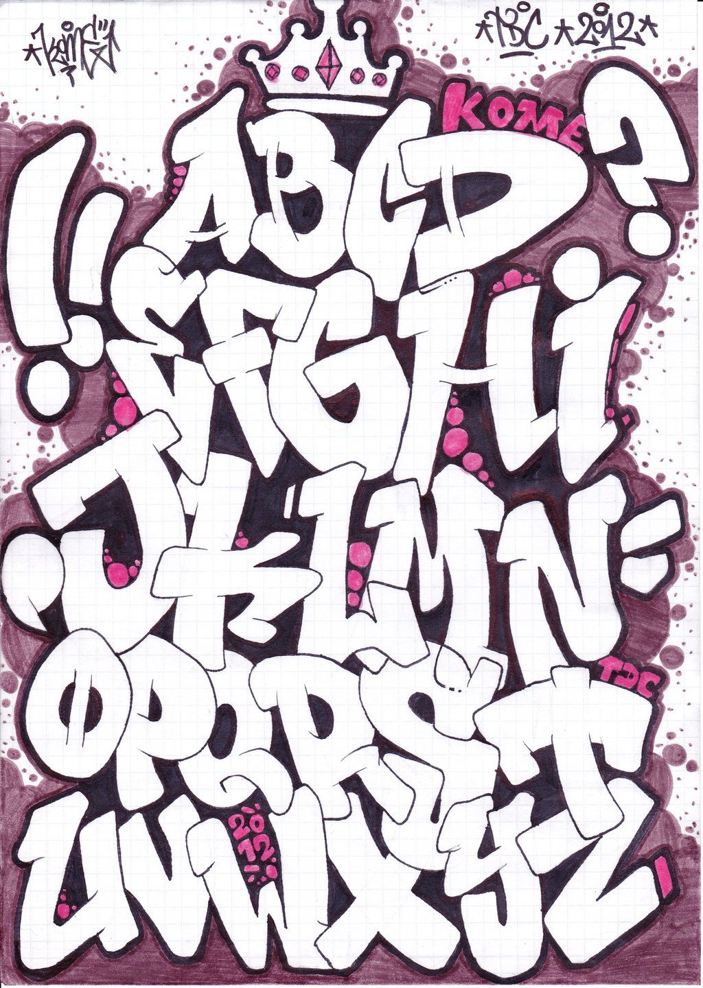 Graffiti Alphabet Sketches
