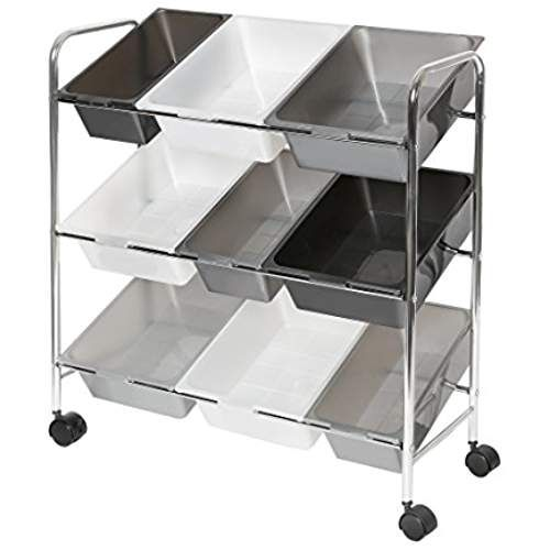 Seville Classics Mobile 9-Bin Storage Organizer, Gradient ...