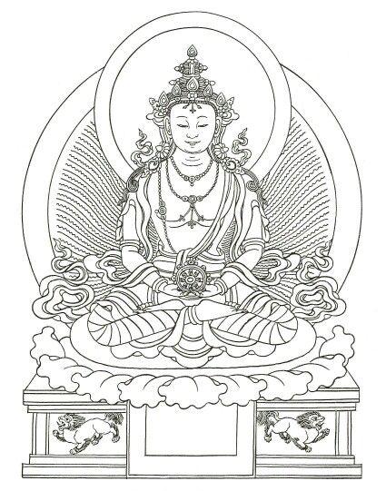 Vairocana Buddhism Art Buddha Art Coloring Pages