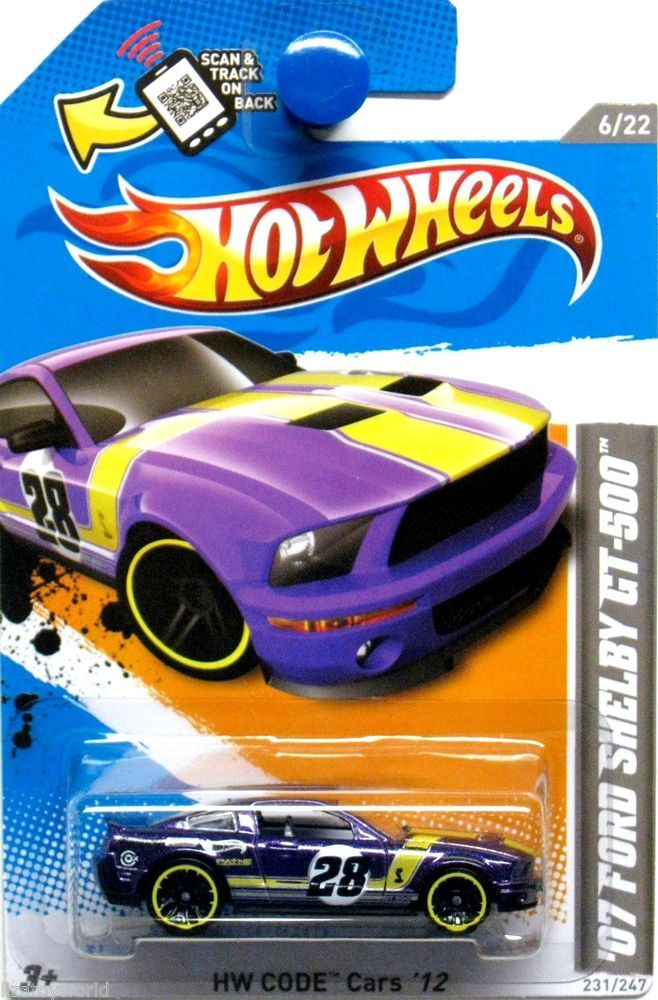 2007 Ford Shelby Gt 500 Hot Wheels 2012 Code Cars 6 22 Violet