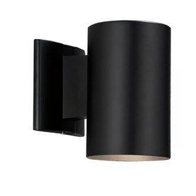 Portfolio 7 In H Black Dark Sky Outdoor Wall Light $19.98 Lowes