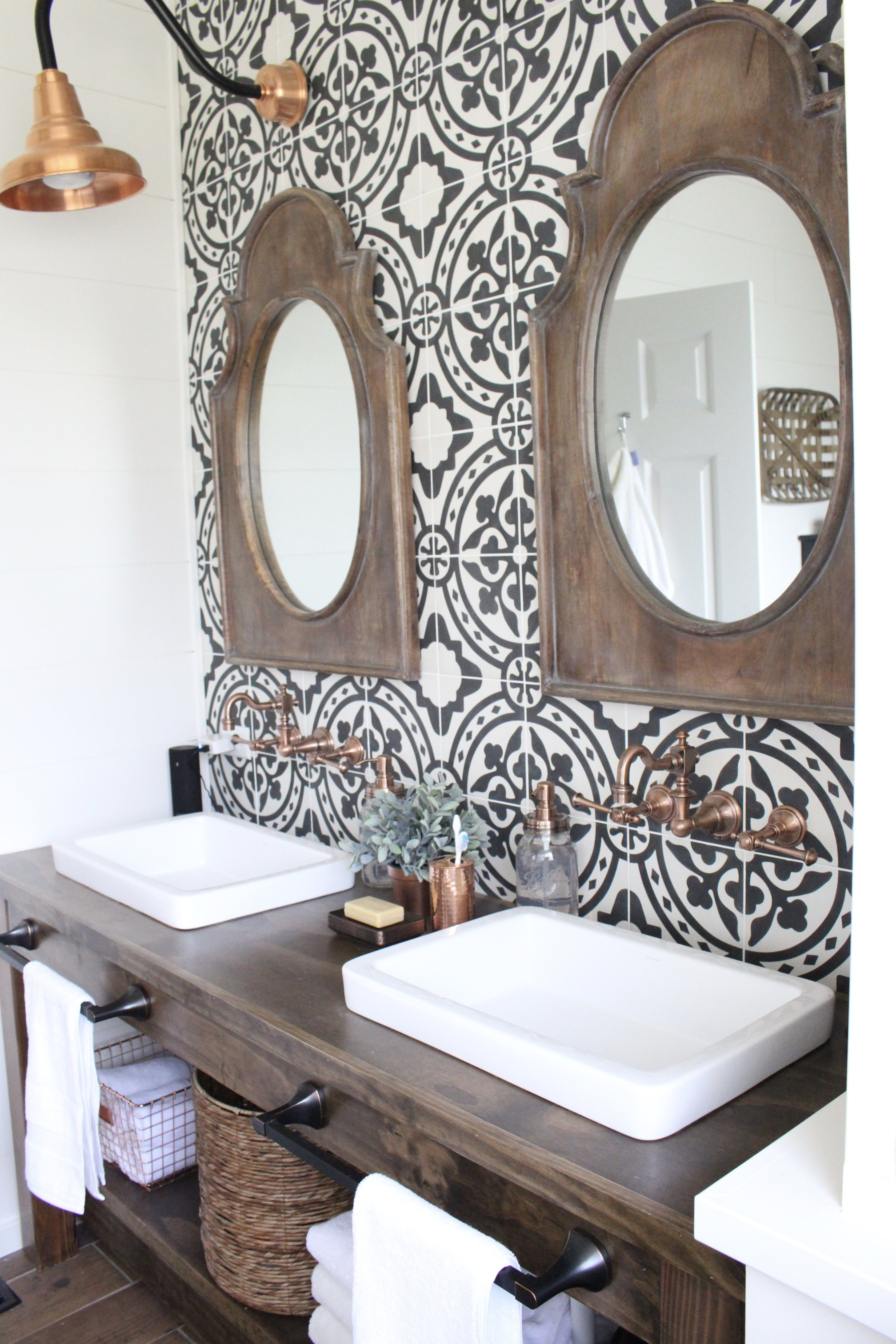 Modern farmhouse bathroom remodel reveal farmhouse style bathrooms