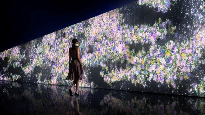 Jardín de flores infinitas (foto teamLab)