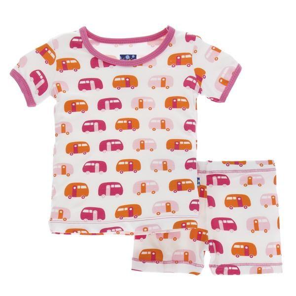 71891da2b0ca Kickee Pants short sleeve pajamas (shorts) natural camper