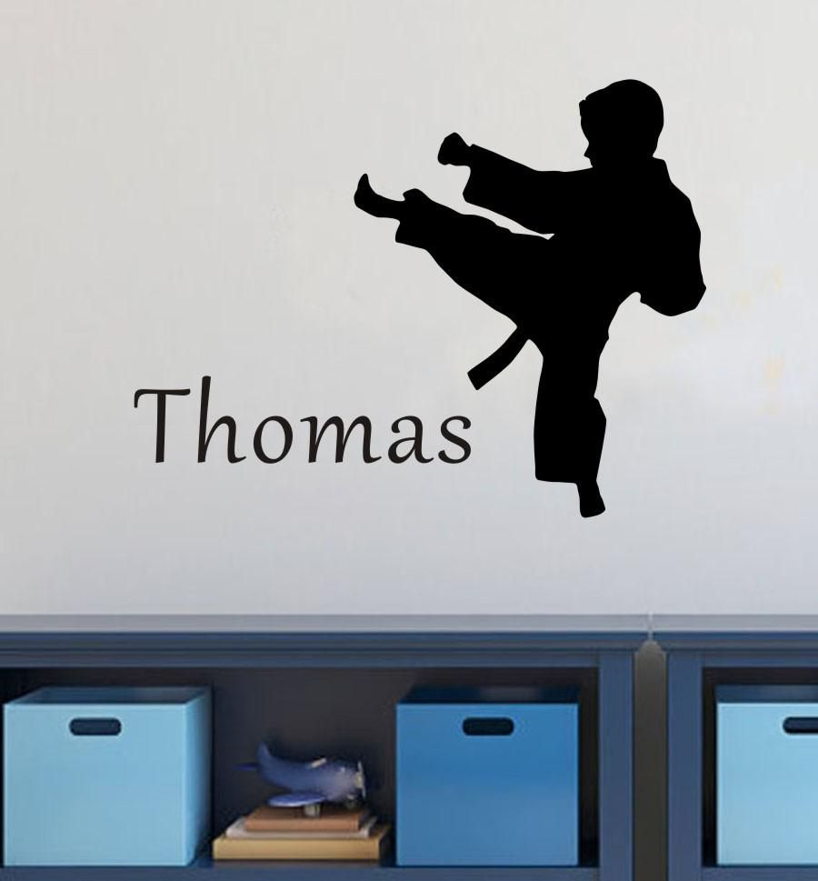 42 Deco Chambre Karate Name Wall Stickers Wall Stickers Home Wall Stickers Home Decor