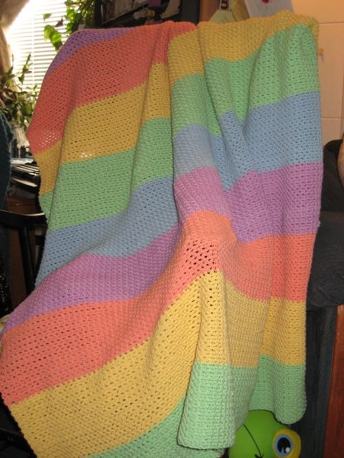 """Simple """"Seed Stitch""""Throw"""