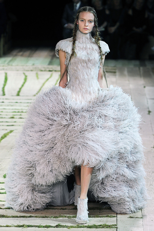 Alexander McQueen Lilac Feathered Ball Gown Profile Photo | sewing ...