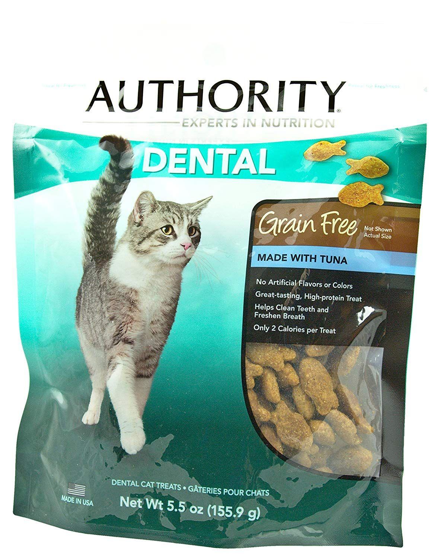Authority Grain Free Dental Cat Treats (Tuna, 5.5 Oz