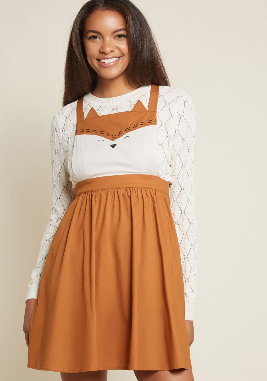 353dad9927 While this fox jumper from our ModCloth namesake label masquerades as a fun  outfit foundation