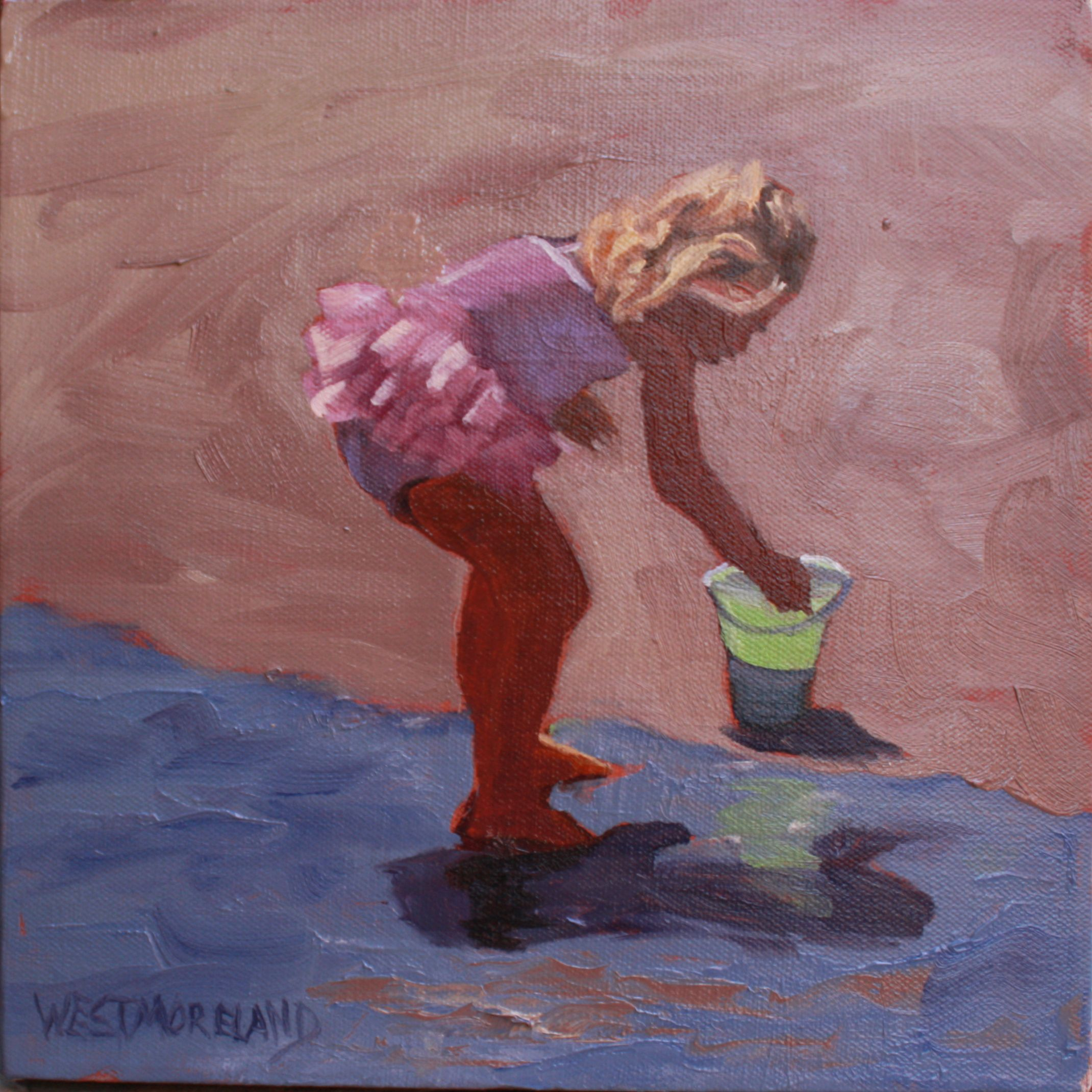 """The Joys of Life"" by Susan Westmoreland. 10x10 inches. Oil on canvas board. SOLD"