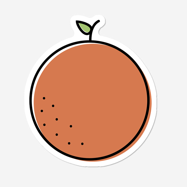Orange Sticker By Kenyam Design By Humans Aesthetic Stickers