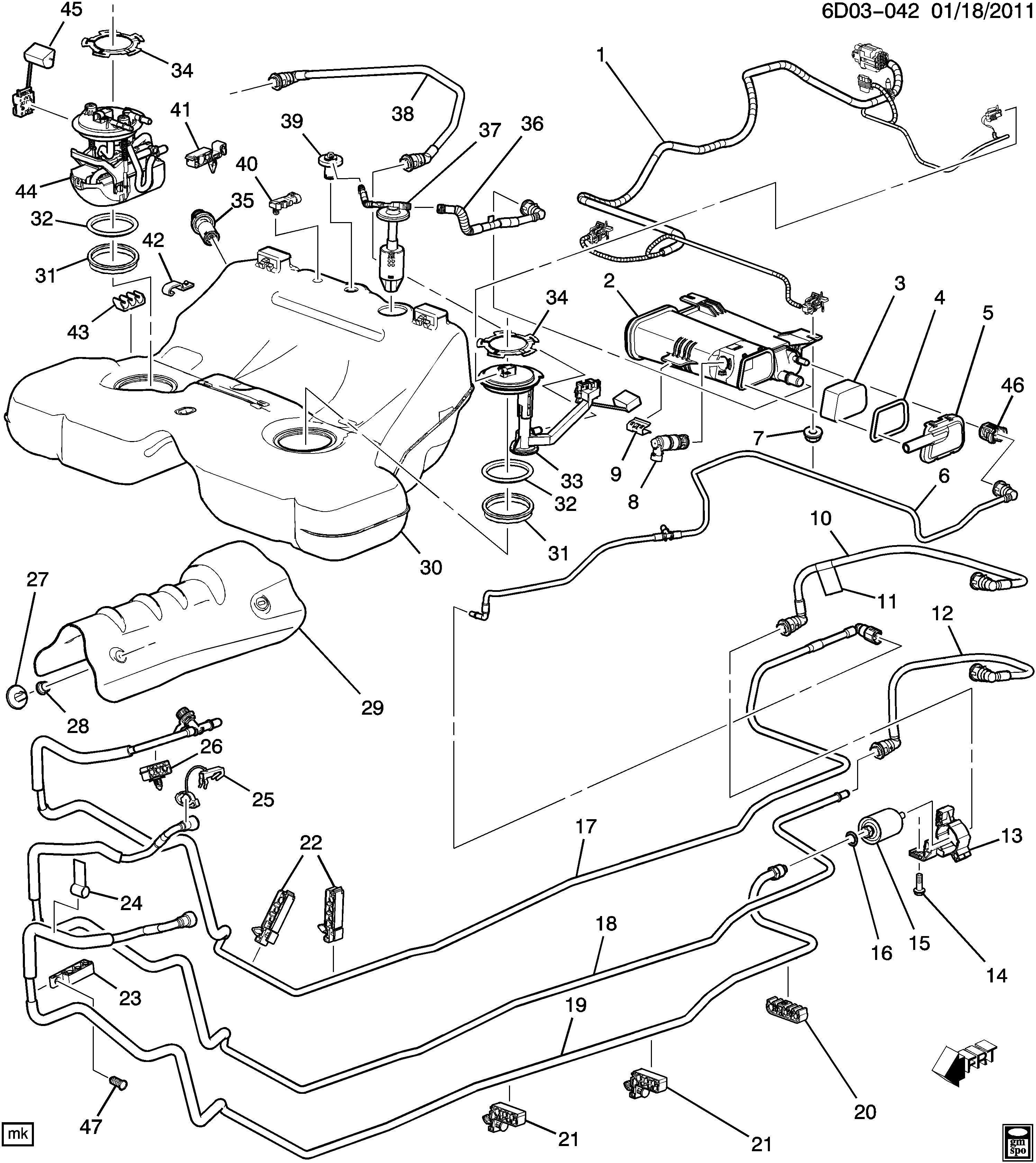 2003 cadillac cts fuel tank auto pinterest cadillac cts and