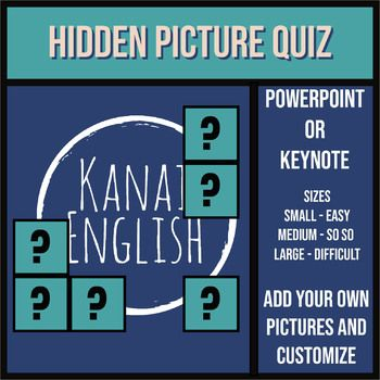 hidden picture quiz template for powerpoint or keynote teacher