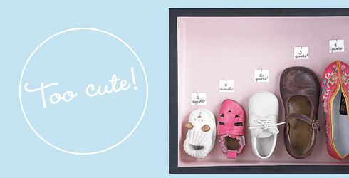 Shoes growth chart - great idea! from Oh Baby