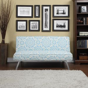 Gage Medallion Click-Clack Futon Sofa Bed, Multiple Colors Guest Room $179