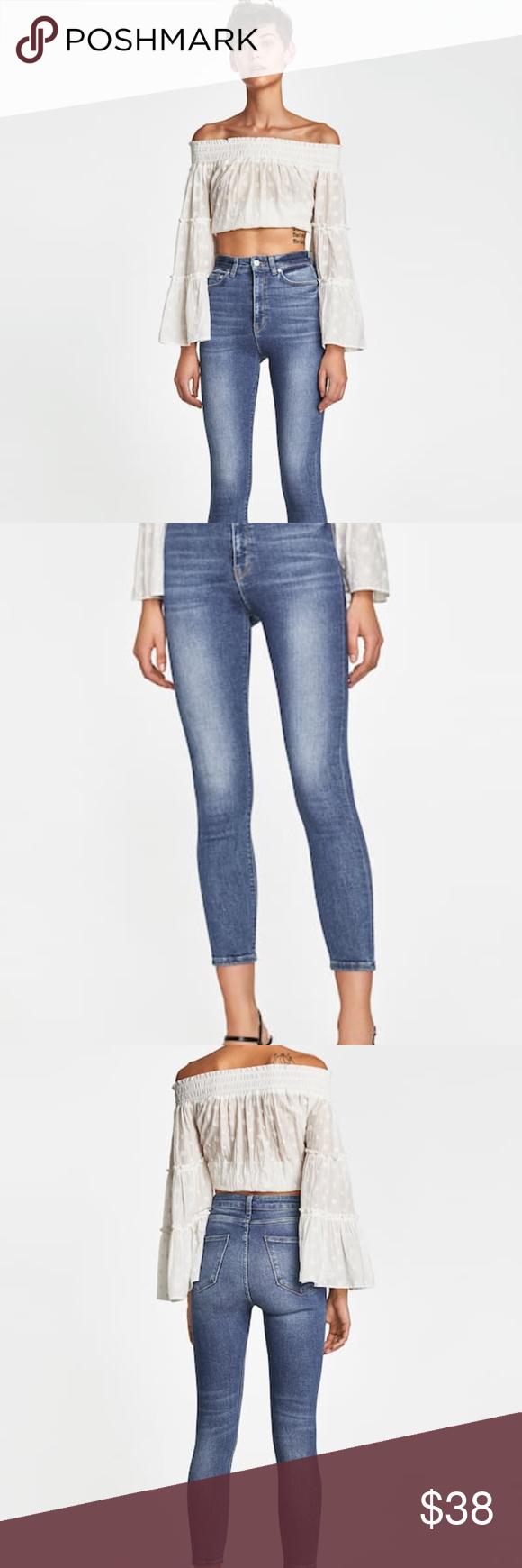 Zara 80'S High Waist Jeans size 8