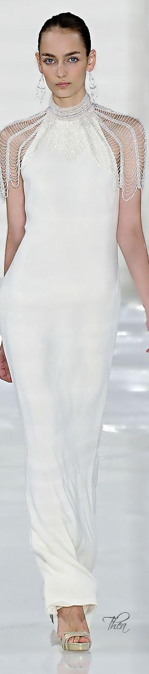 Ralph Lauren white gown