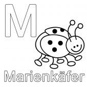 Buchstaben Lernen Kostenlose Malvorlage M Wie Marienkafer Zum Ausmalen Buchstaben Lernen Ausdrucken Lernen