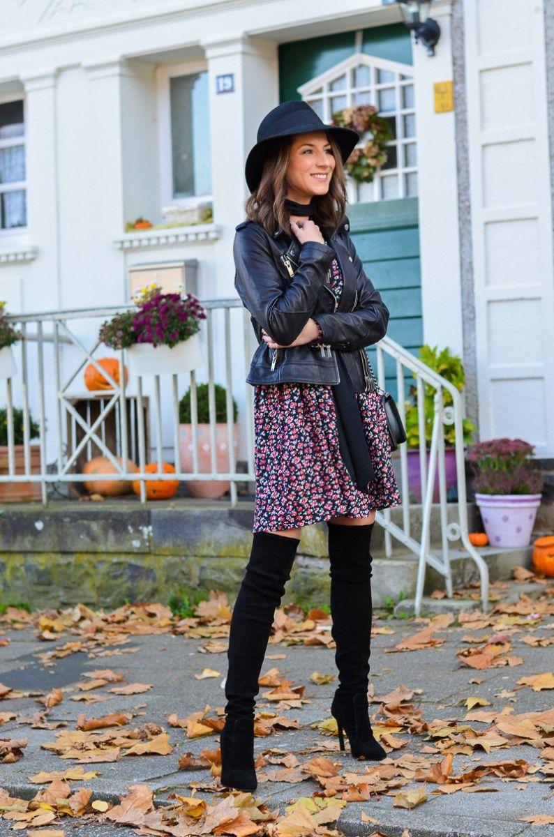 outfit petite fleur blumenkleid zara overknee boots shoes pinterest overknees. Black Bedroom Furniture Sets. Home Design Ideas