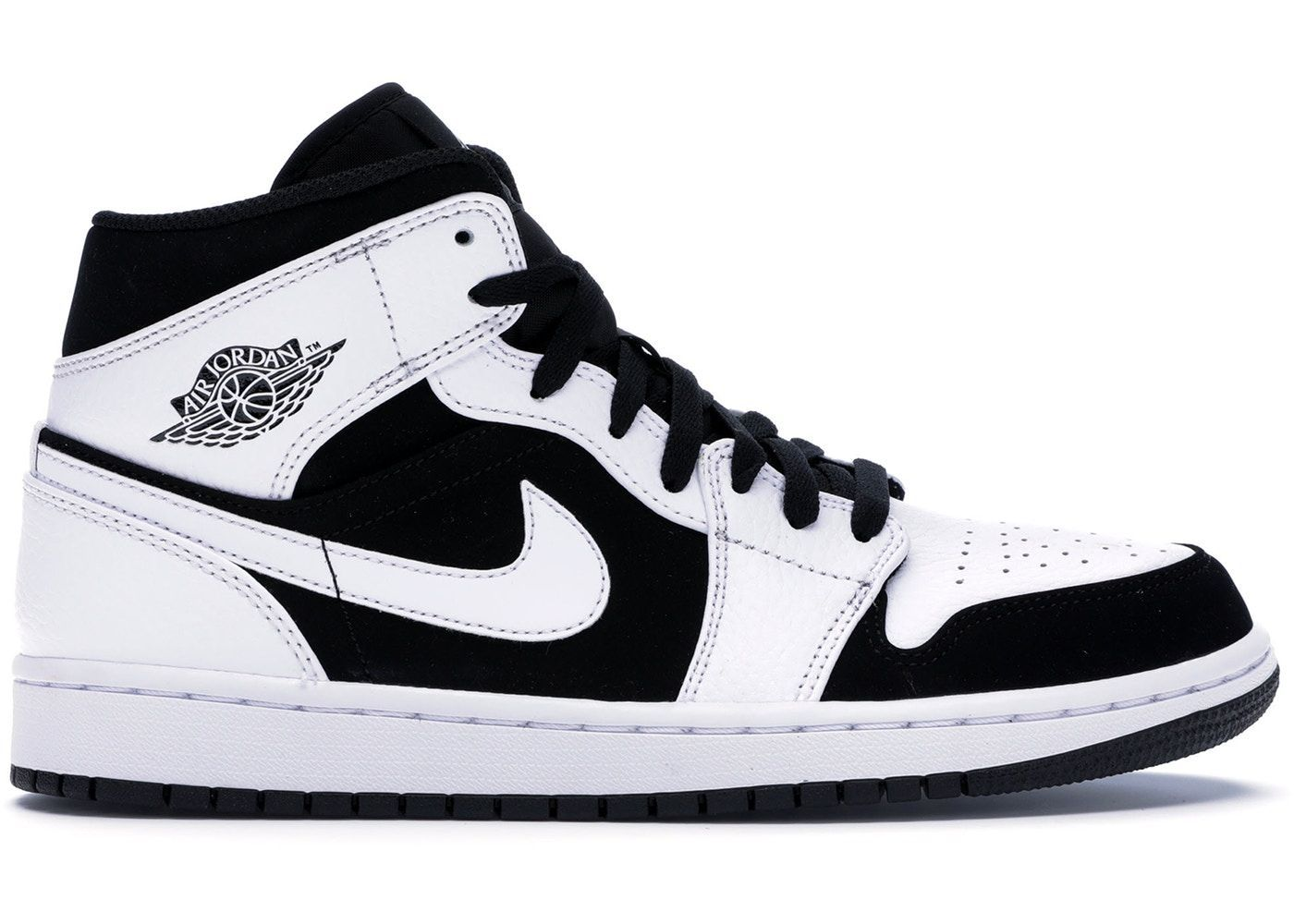 Acrylic Nails Discover Jordan 1 Mid White Black (GS) in