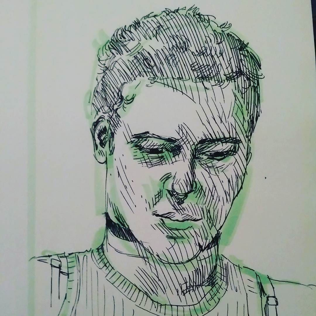 """I'm calling it """"portrait of the too many strokes"""" #portrait #sketch #ink #girlfriend #s http://buff.ly/29uHZ7a"""