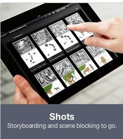 Celtx offers a series of apps for storyboarding, script