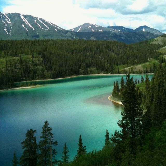 Emerald Lake in the Yukon, Canada