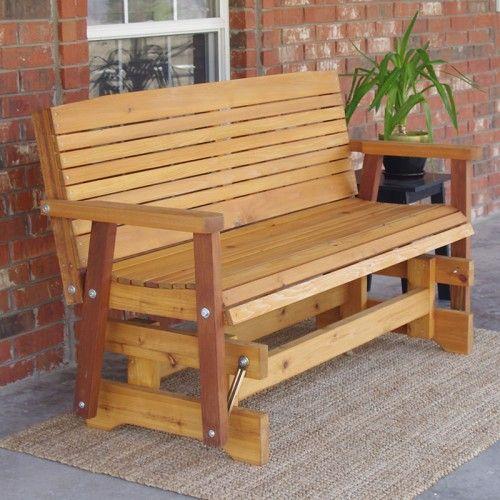 Excellent Tmp Outdoor Furniture Colonial Red Cedar Outdoor Glider In Creativecarmelina Interior Chair Design Creativecarmelinacom