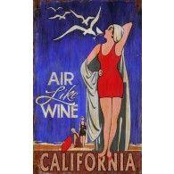 air like wine vintage sign