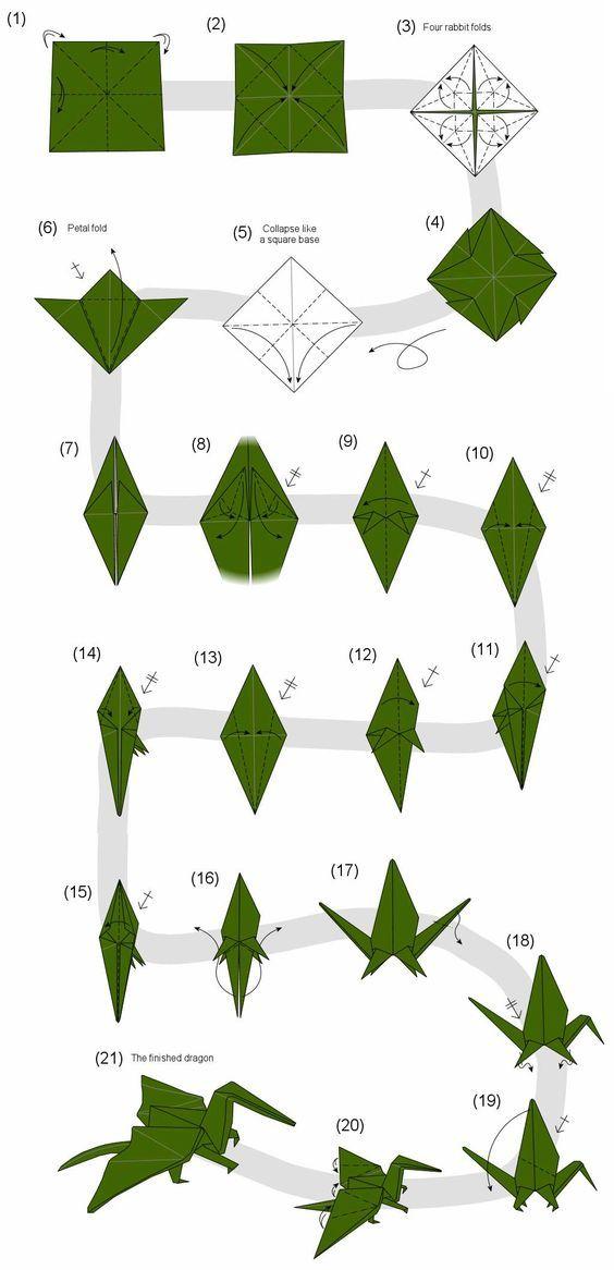 tuto origami dragon