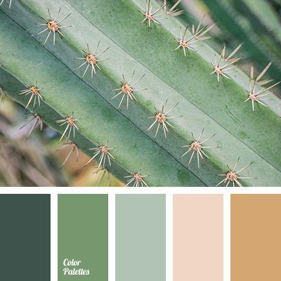 Beautiful Weddign Color Scheme Beige Matching Dark Green Greens Light Brown Shades Of