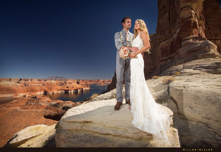 Lake Powell Destination Wedding Weddingdress Lace Bride
