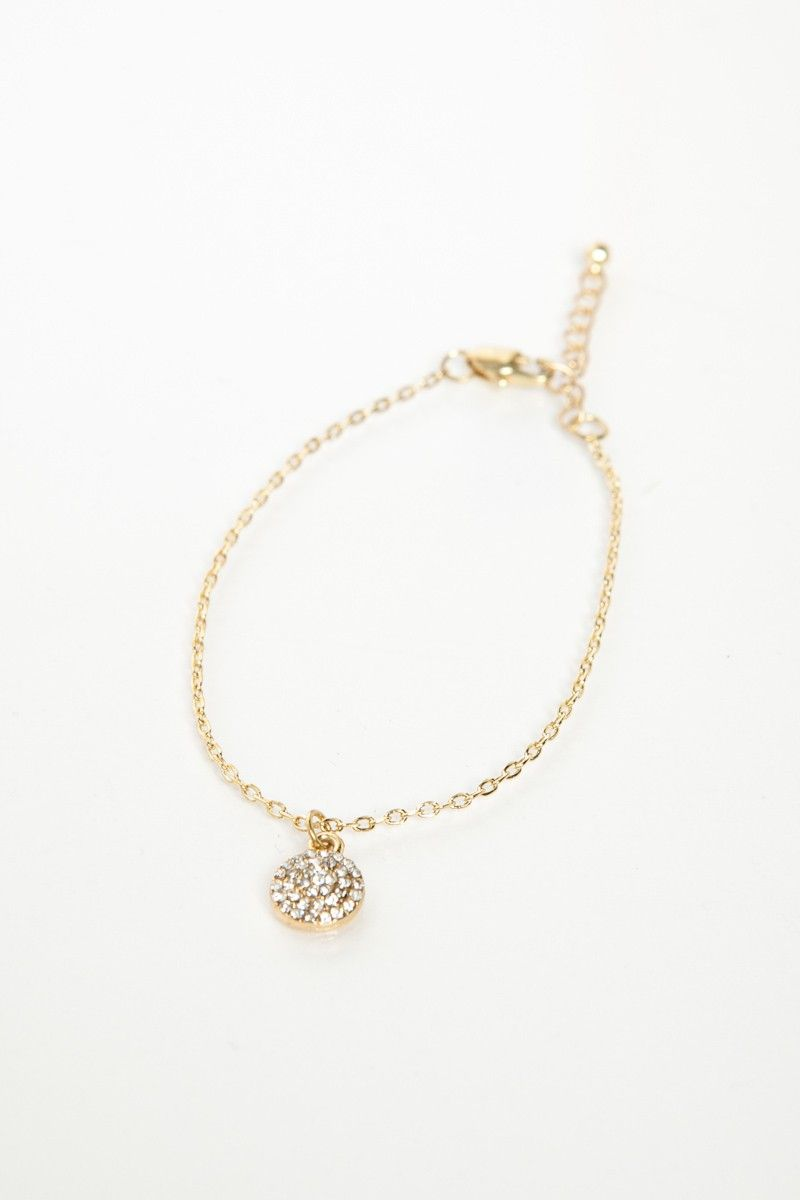 Shopsosie style rhinestone circle charm bracelet gift ideas for