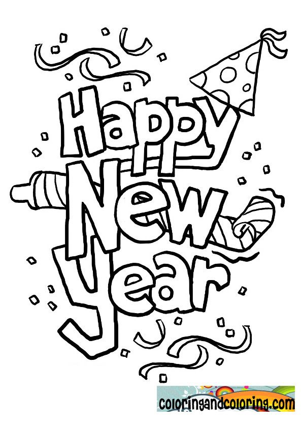 Happy new years coloring pages | www.sd-ram.us | Pinterest