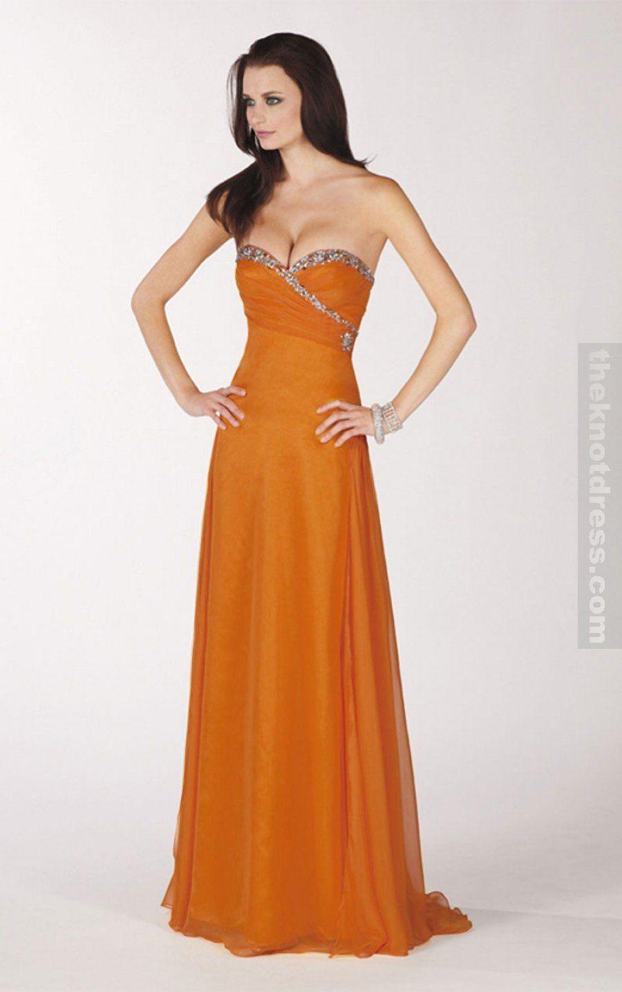Military ball gown | Orange prom dresses, Bridesmaid ...