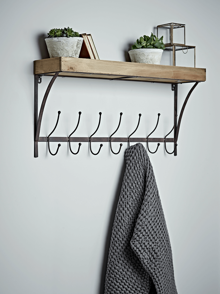 Industrial Shelf With Hooks - Small | Home sweet Home | Pinterest ...